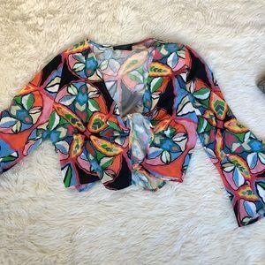 Zara Print Crop Top